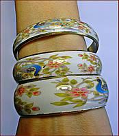 Набор браслетов в декупажном стиле (Индия)