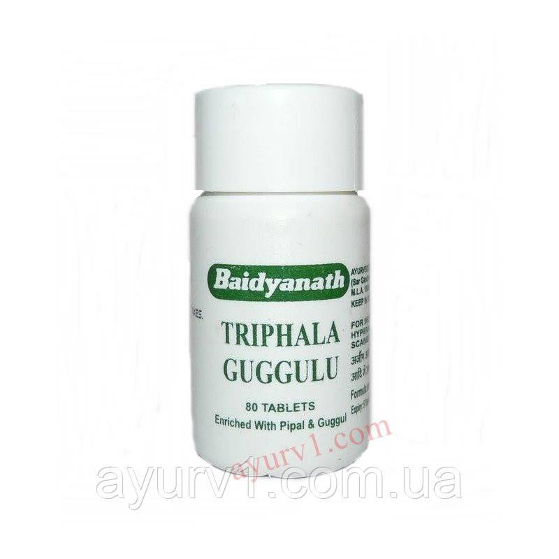 Трифала Гуггулу, Байдьянатх / Triphala Guggulu, Baidyanath / 80 tabs.