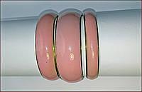 Комплект браслетов пастельно -розового цвета ,( Индия)