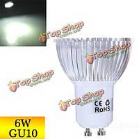 Затемняемый GU10 6 Вт 430-460lm чистый белый свет LED пятно лампы 220В