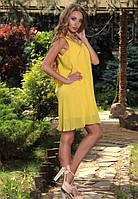 Желтый сарафан с бантом на спине