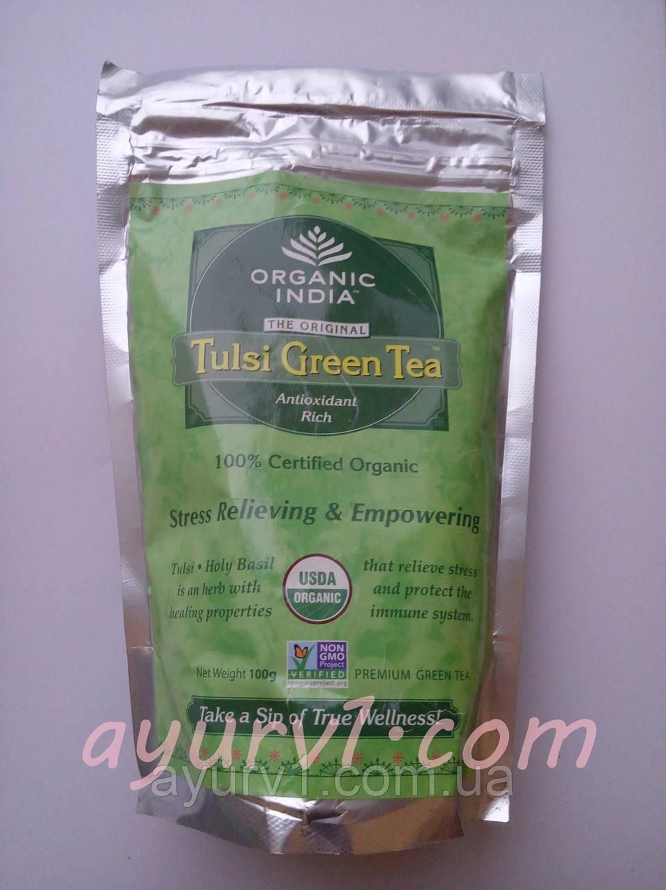 Tulsi Tea Green, Зеленый чай Туласи