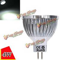 Затемнения MR16 4вт 4LED чистый белый свет LED пятно лампы 12-24В