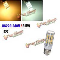 E27 5.5w 69SMD 5050 LED энергосбережение LED кукуруза лампочки переменного тока 220-240В