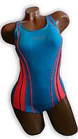 Купальник женский спортивный для бассейна. Rivage Line. Голубой. 8951, фото 1