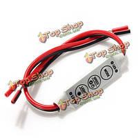 LED контроллер диммер для 3528 5050 проведена единственная Цвет автомобиля LED прокладки DC12V