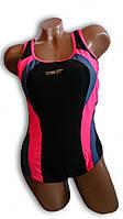 Купальник женский спортивный для бассейна. Rivage Line. Черный. 8619, фото 1