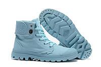 Женские ботинки Palladium Baggy (паллаиум багги) голубые