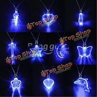 LED синий магнитный свет очарование кулон ожерелье подарок на день рождения Рождество