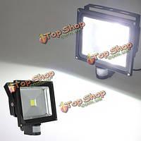 40Вт Белого движения PIR датчик детектив LED флуд безопасности лампы 85-265V