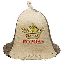 Мужская шапка для бани и сауны  Король