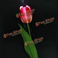 LED солнечный цветок тюльпана сад энергосберегающий свет кола для украшения