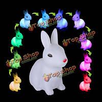 Милый кролик изменение цвета LED ночник светлая комната Рождественский подарок