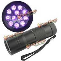 12 LED черный свет-ультрафиолетовый UV фонарик факел лампы