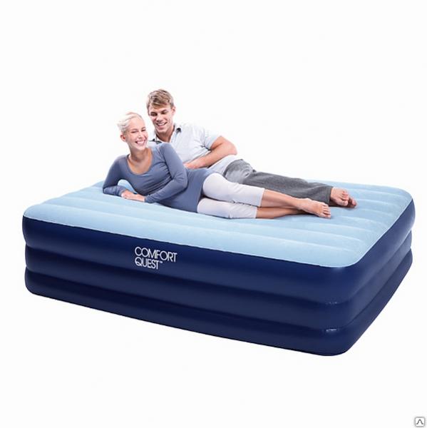 Надувная двухместная кровать с электро насосом bestway 67451 203 см. х 152 см. х 56 см.