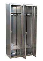 Шкаф для одежды из нержавеющей стали двойной