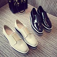 Оригинальные туфли на толстой подошве, 2цвета