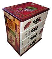 Шкатулка-комод из массива дерева в китайском стиле