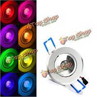 3вт RGB в LED встраиваемый светильник потолочный свет лампы реветь с AC 85-265в