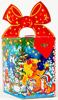 """Новогодняя упаковка из картона НОВИНКА 2015 """"Бант веселая лошадка 700г.""""скидка только для оптовиков"""