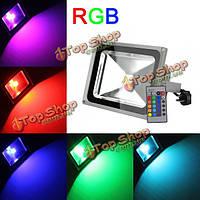 30Вт 2700-3000lm LED водонепроницаемый RGB цвет RC РУ LED прожектор 85-265в