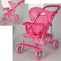 Удобная прогулочная коляска для кукол, как у мамы, модель 9366 Т/018