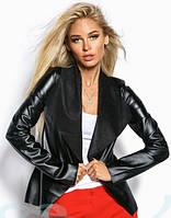 Модный кожаный кардиган S