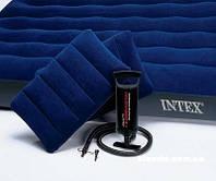 Надувной матрас с подушками и насосом Intex 203х152х22 см (68765)