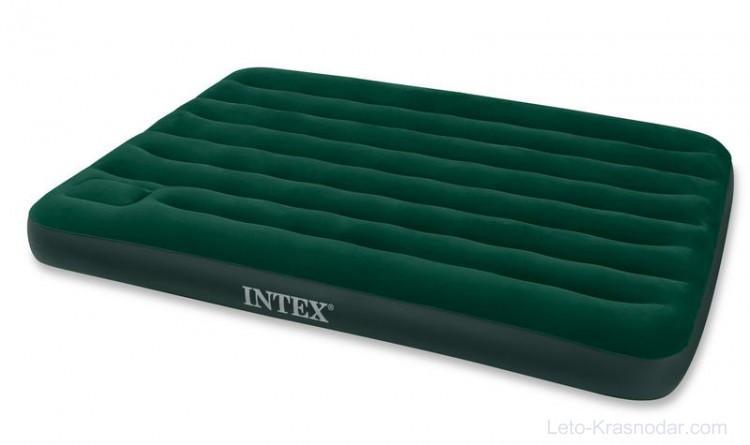 Надувний матрац Intex з вбудованим ножним насосом 203х152х22 см (66929)
