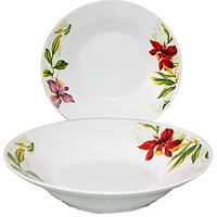 Тарелка суп 21 см Садовые цветы. Набор 12 шт