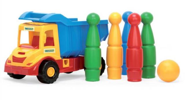Іграшкова машинка Вантажівка з кеглями серії Multi Truck Wader (32220,39220)