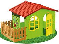 Детский игровой домик Garden House с террасой ( игровой домик для улицы и дома)