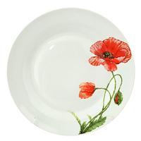 Тарелка 20 см \Красный мак. Набор 12 шт