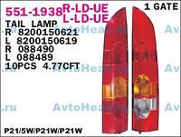 Фонарь задний правый (1 дверь) Kangoo 03-09 FP5610F2-E