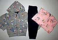 Трикотажный костюм-двойка с начесом для девочек Grace 1-2-3-4-5-лет