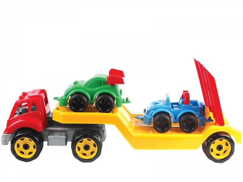 Машинка Автовоз з набором машинок Технок (3909)