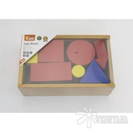 Набор для обучения Viga Toys Логические блоки 56164, фото 2