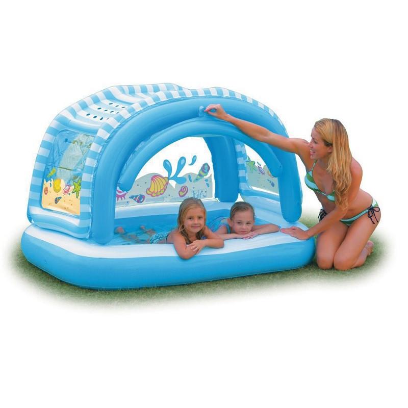 Надувной бассейн с навесом Intex 163х112х102 см (57406) Уценка