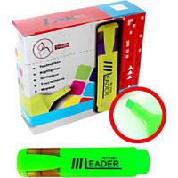 Маркер текстовый зеленый LR-7001 Leader