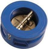 Клапан обратный подпружиненный двухстворчатый  ДУ 150