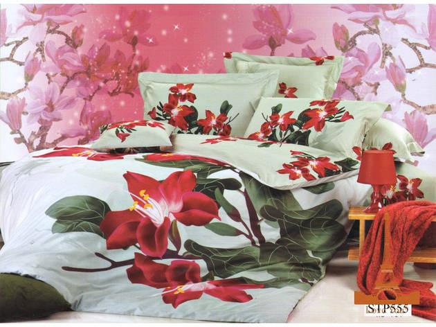 Комплект постельного белья Евро 3D Сатин 200х220  Магнолия stp 555, фото 2