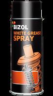 Сперй-смазка белая с тефлоном Bizol WHITE GREASE SPRAY 400мл
