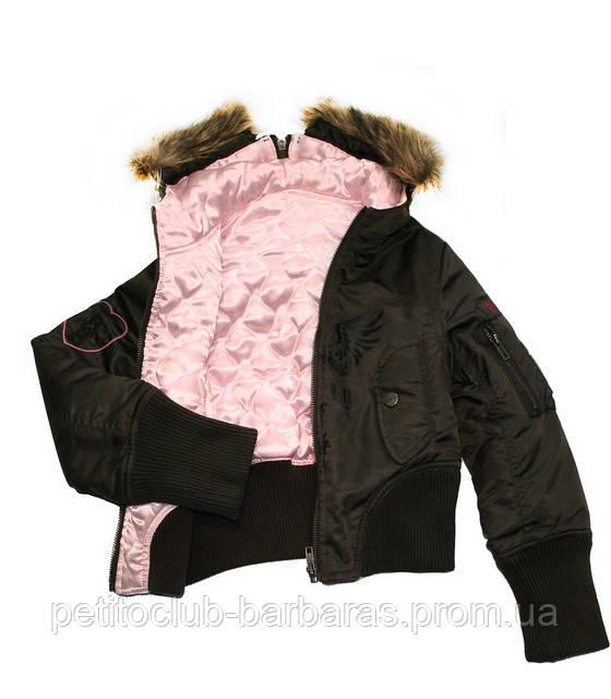 Демисезонная куртка-бомбер 2-сторонняя для девочки кор/роз (Quadrifoglio, Польша)