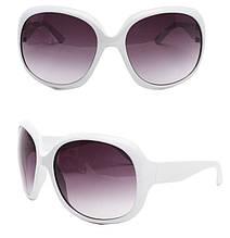 Очки солнцезащитные Chanel  ТОЛЬКО ОПТОМ ! белая оправа, линзы фиолетовый градиент