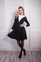 Женское деловое платье с манжетом 08246