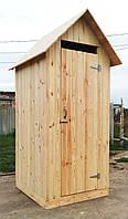 Туалет дачный из имитации бруса (обшивка вертикально)