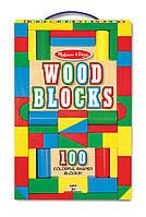 100 деревянных кубиков, Melissa&Doug