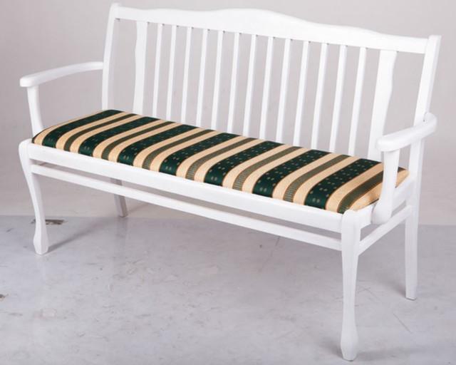 Лавка Версаль белый мягкое сиденье