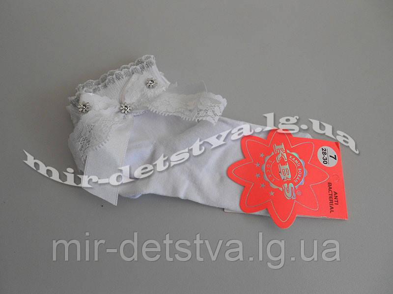 c2076bc7e22b9 Белые детские носки с аксессуарами ТМ KBS р.7 (122-128 см): продажа ...