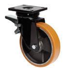 """Большегрузные колеса для тележек с поворотной крепежной панелью и тормозом """"Medium"""""""